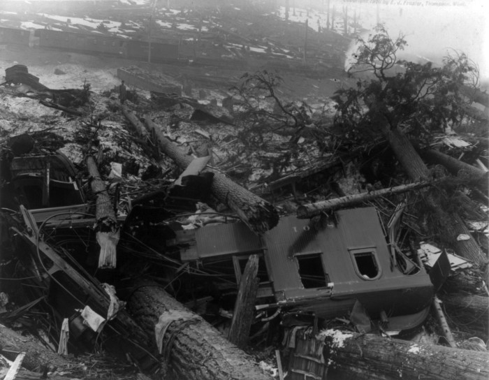 11. Wellington in King County has been credited with one of the worst avalanches in United States history. The avalanche occurred in 1910 and  after the disaster, the town's name was changed to Tye; the area was abandoned by 1929.