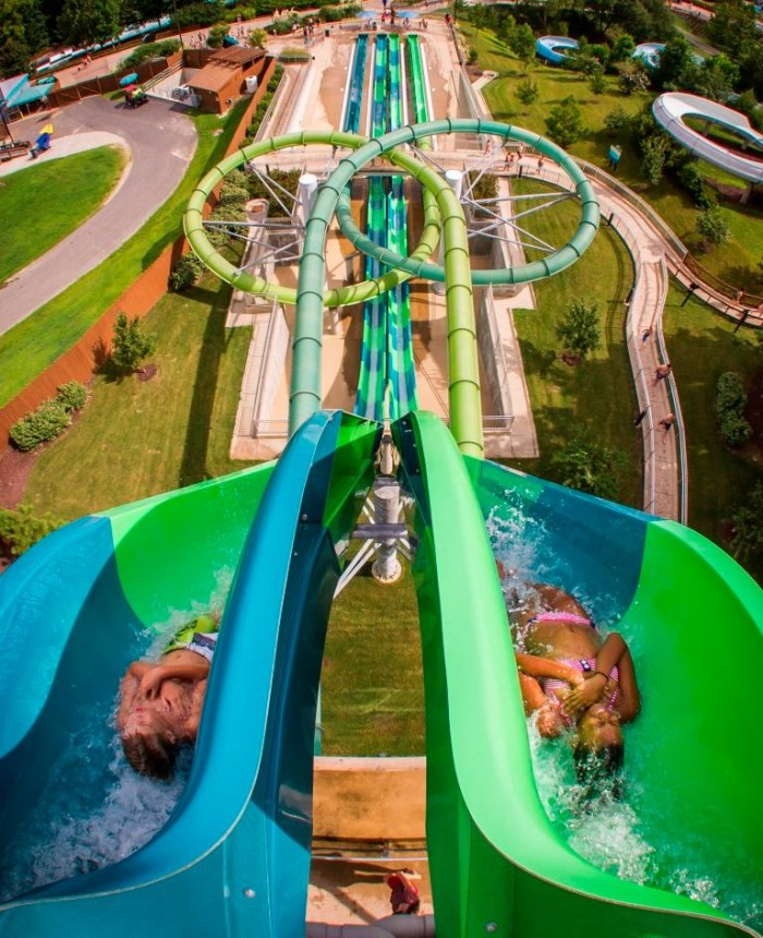 4. Catch a wave at the water parks.