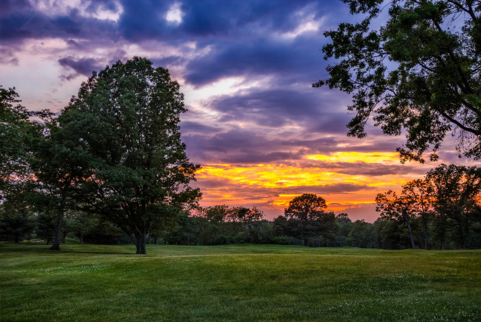 4. This stunning sunset seen from a West Orange golf course.