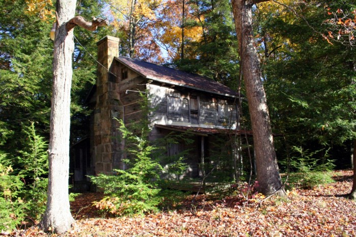 7. This abandoned house somewhere in the woods in West Virginia