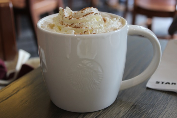 10. All kinds of pumpkin spice, eggnog and peppermint flavors become available at coffee shops...