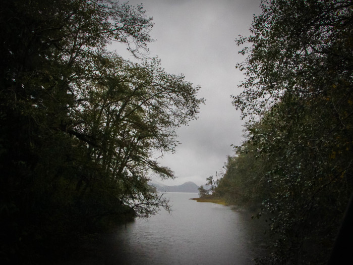 5.  An eerie setting at Lake Crescent.