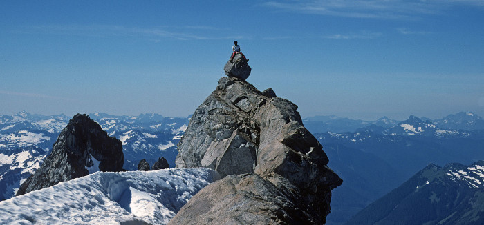 7. On top of Dome Peak in the Glacier Peak Wilderness at the North Cascades.