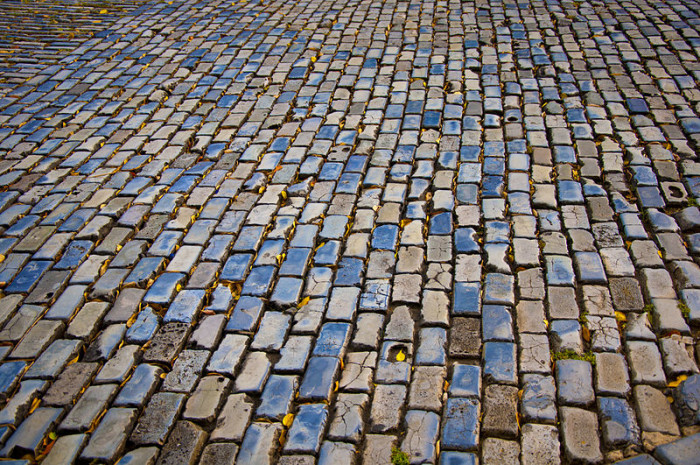 6. One of our streets was the first to paved with bricks.