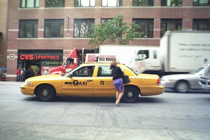 5. Actually Hailing A Taxi Cab