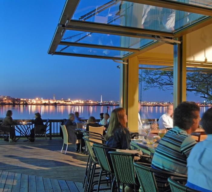 indigo Landing deck view at night