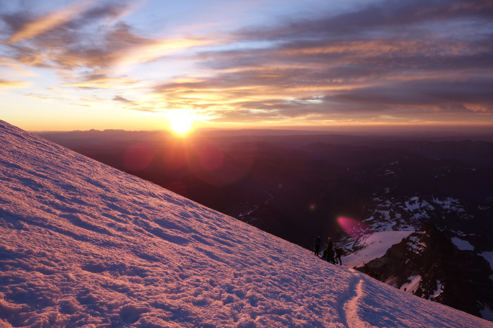 2. A peaceful scene photographed near the summit of Mt. Rainier.