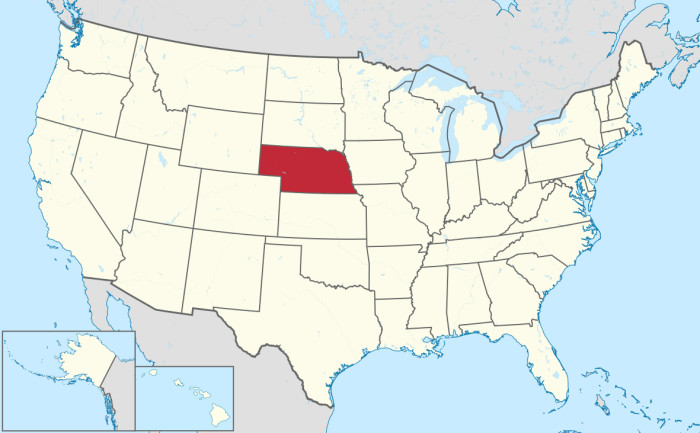 You've had to point out - to multiple people - exactly where Nebraska is on a map.