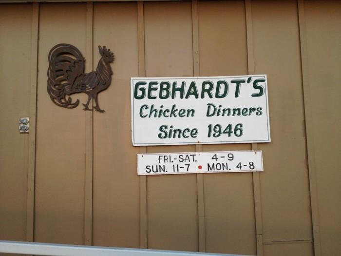 5.) Gebhardt's Chicken Dinners (Mulberry)