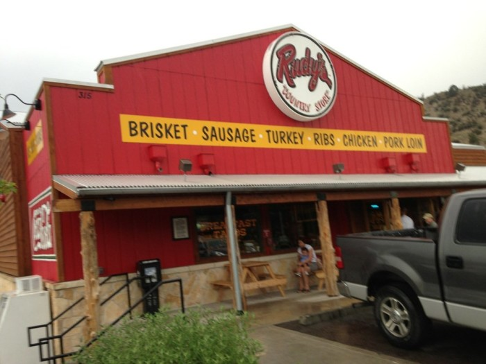 1.) Rudy's Country Store & Bar-B-Q (Colorado Springs)