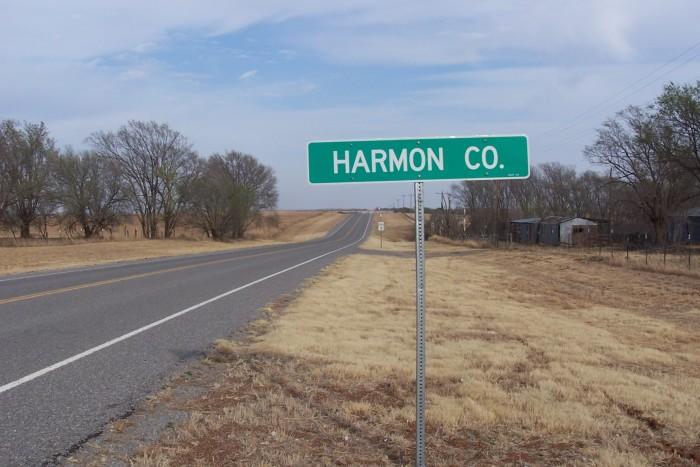 8. Harmon County, Population: 2,922