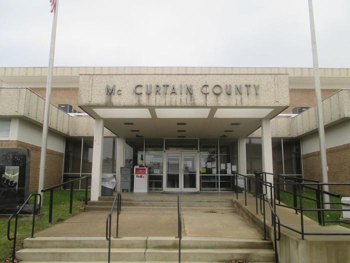 6. McCurtain County, Population:  33,151