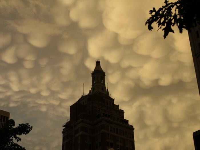 2. Mammatus Clouds