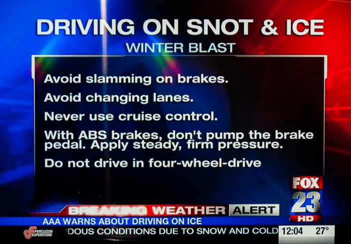 9. Didn't know Oklahomans drive on snot?