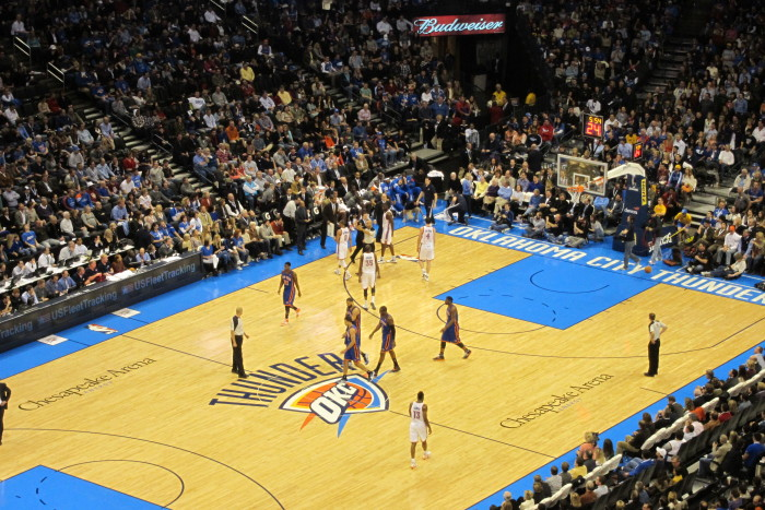 5. Anytime our OKC Thunder defeat their opponents.