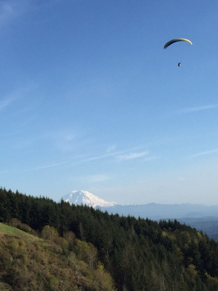Friday: Pump up the adrenaline while you're paragliding near Issaquah