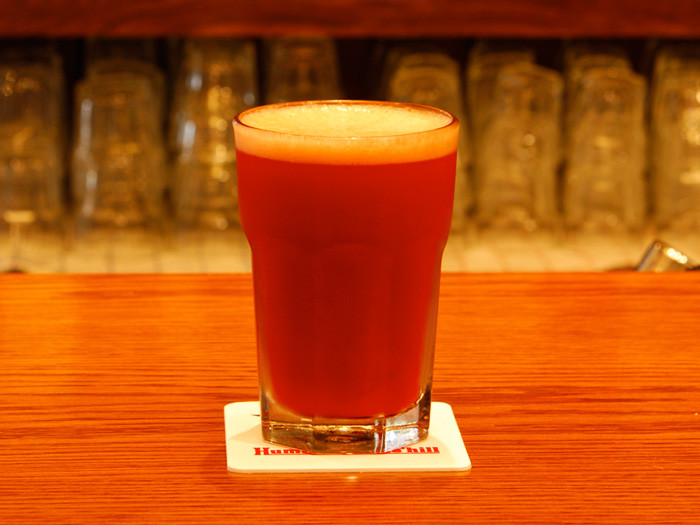 ...And red beer...