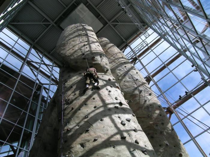 7.  Indoor rock climbing is pretty thrilling!