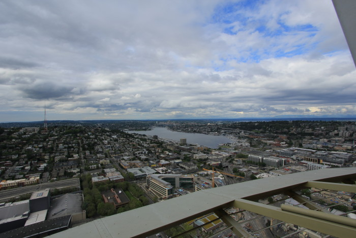 8. Actually going to the top of the Seattle Space Needle.