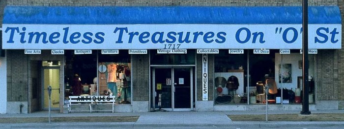 Timeless Treasures On O Street, Lincoln