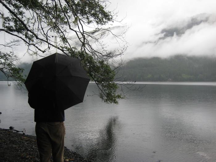 7. Using an umbrella.