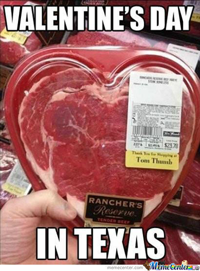 5) Who needs chocolates and flowers on Valentine's Day anyway? Not Texans, apparently.