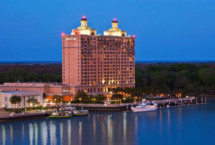 3) Westin Savannah Harbor Golf Resort & Spa- 1 Resort Dr, Savannah, GA 31421