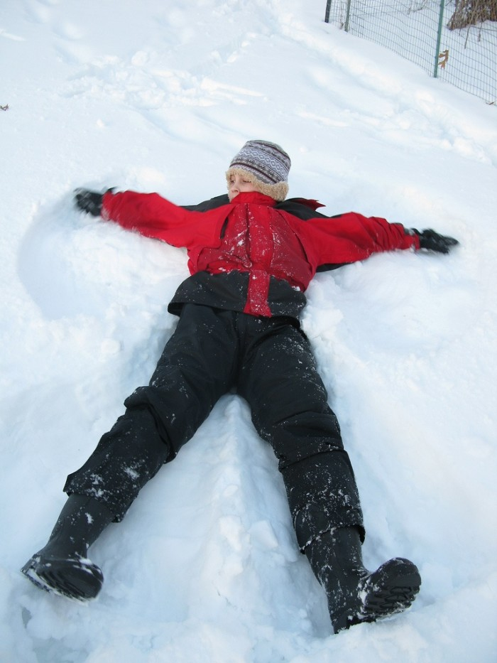 8. Making snow angels is the absolute best thing ever