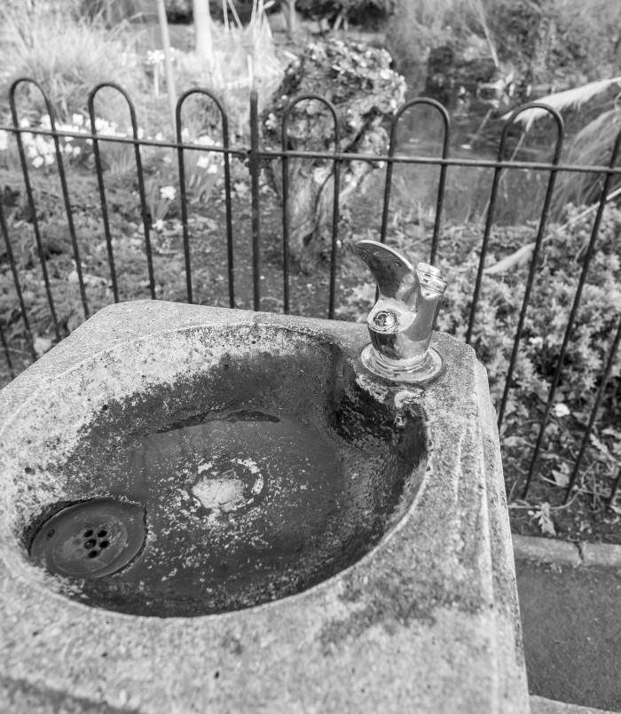 9. Drinking fountain