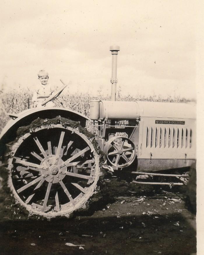 3. Boy on tractor, Milan (1928)
