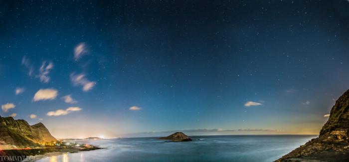 "5) ""Makapuu Night Panorama"" by Tommylege"