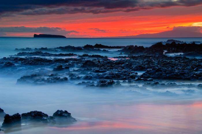 "17) ""Wispy Makena Cove Sunset"" by Peter Liu"