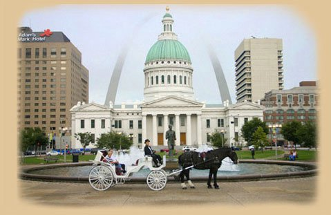 1. Take a romantic ride around St. Louis in a horse drawn carriage.