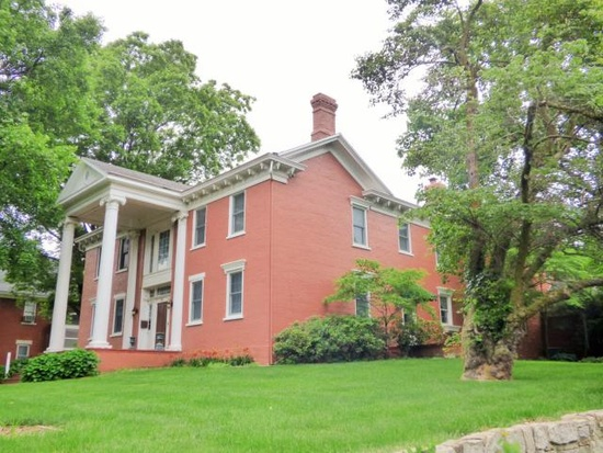 10. 766 Highland Ave, Lexington, MO 64067.  You can own 7,000 square feet of history for only $700,000!  This 165 year old Antebellum home is listed on the National Historic Registry and features views of the Missouri River and Valley as well as front and back stairs and elevator.