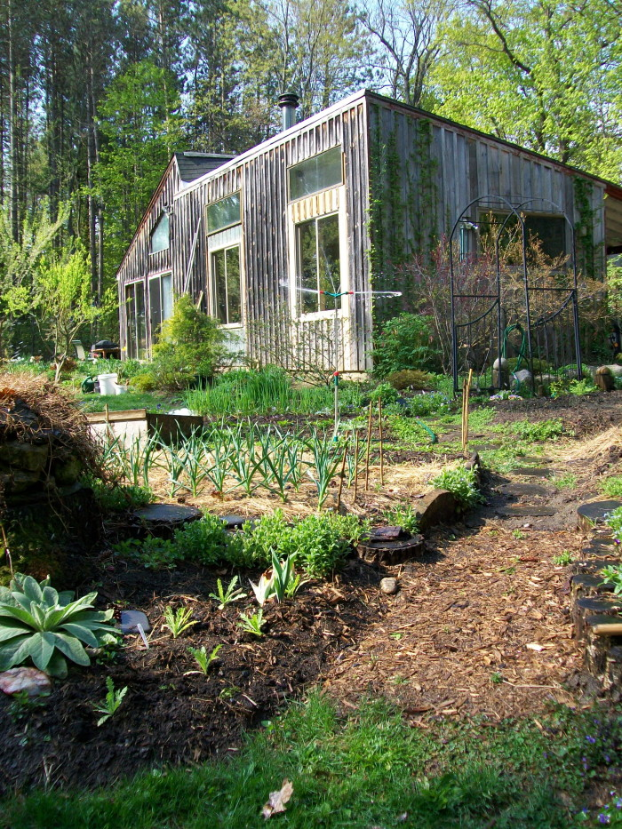 1) A garden sanctuary