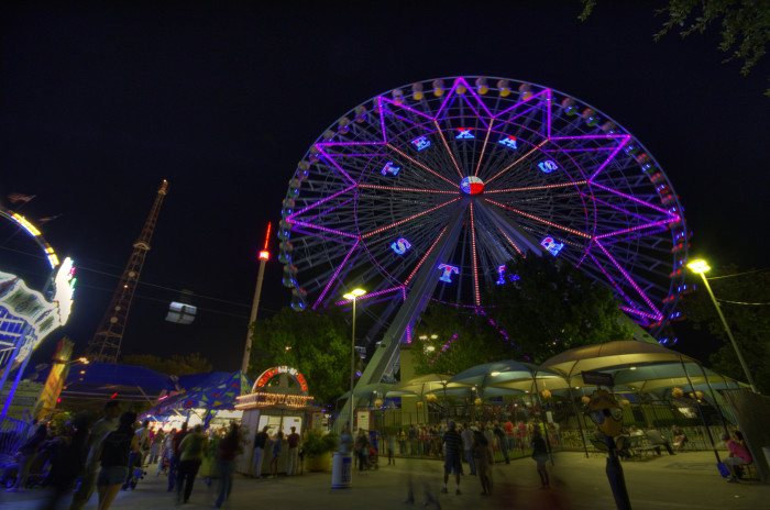 5) We have equally amazing small town and larger fairs throughout the state, such as the State Fair of Texas in Dallas (where you'll find fried foods galore).