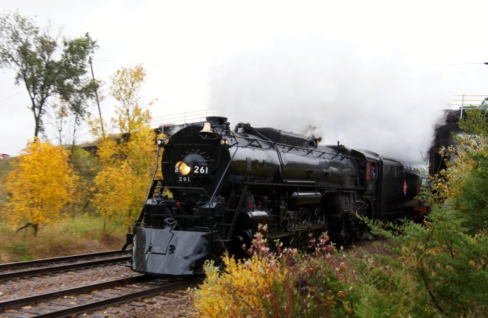 11. This is Milwaukee Road Engine No. 261 on a fall foliage trip! So beautiful!