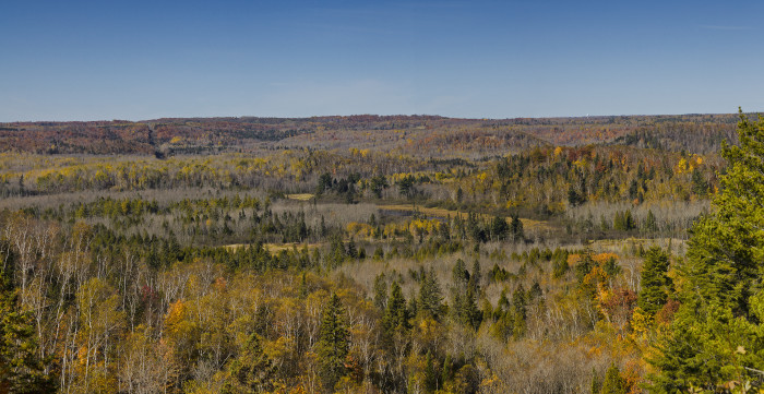 11. On Veterans Memorial Overlook - Hwy 23 you will get amazing panoramas of Minnesota autumn.
