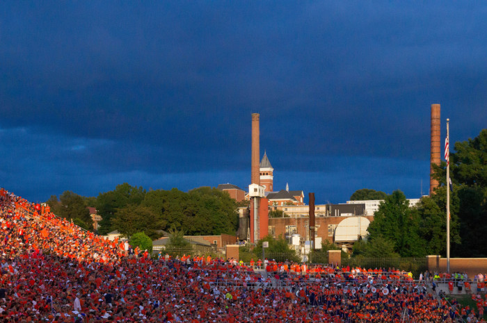 8. Clemson; You know a college town has everything you could want.