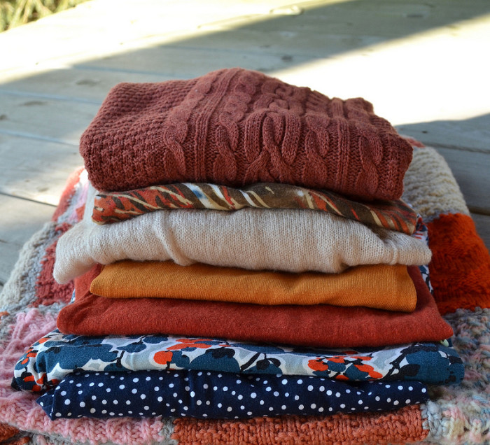 9. Fall fashions are the BEST! Popular fall clothing options include cozy sweaters, hoodies, boots and scarves.