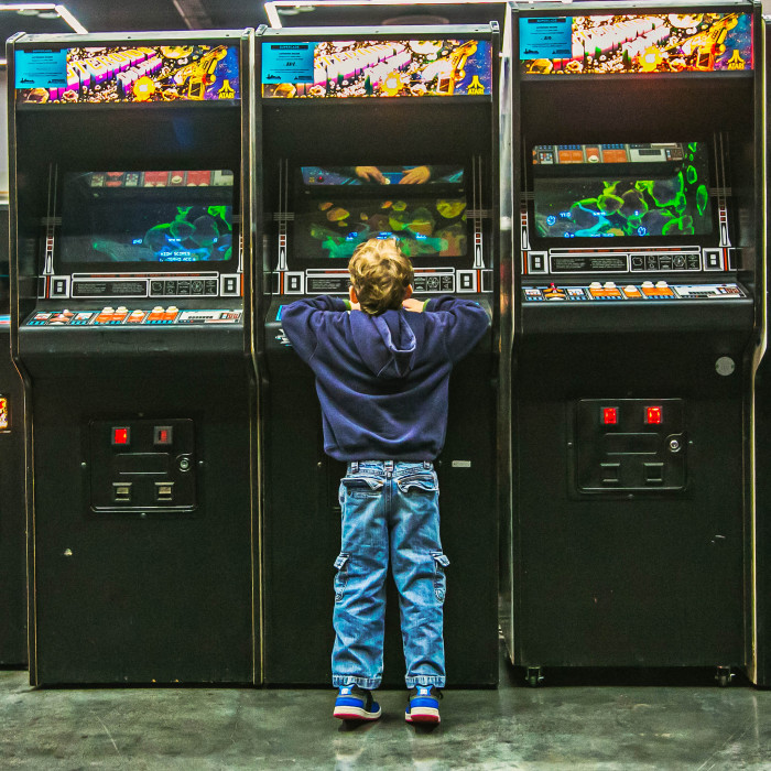 Go to an arcade. Who doesn't love spending time playing arcade games, skee-ball, or air hockey?