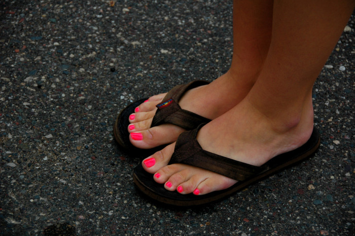 10. Then you know it's time to say goodbye to the flip flops for the rest of the year.