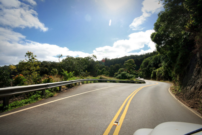 11) The Road to Hana, a 64-mile coastal drive, features views of waterfalls, forests, mountains, and the ocean.