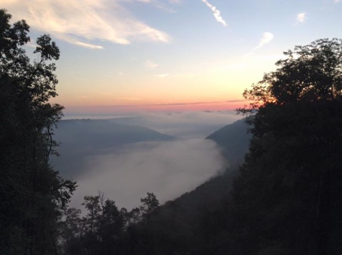5. George Beck took this photo from outside his mountain cabin in Beech Creek.