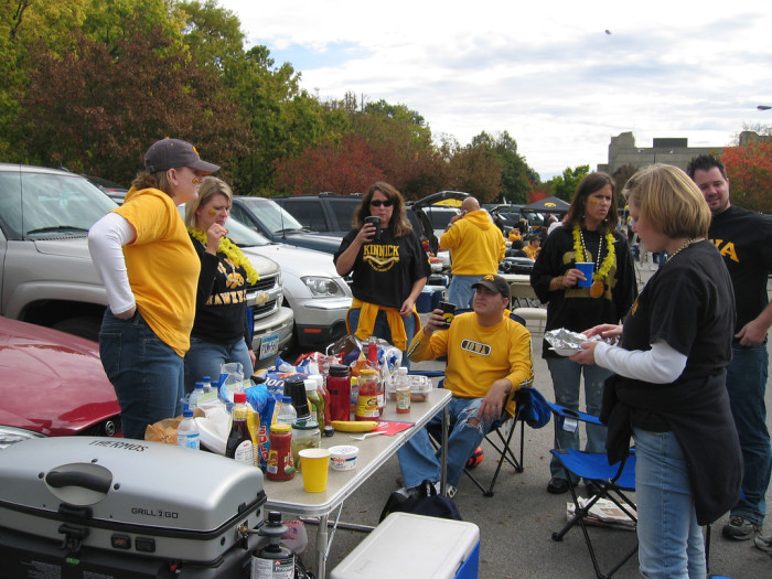 10. And tailgating, of course.