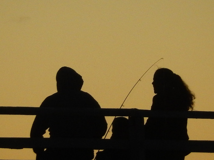 """7. Go fishing. You might say, 'UGH"""", but it's a great way to get out of the city  and have some good conversation."""