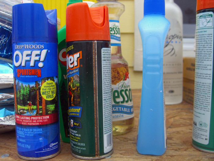 4. A collection of bug sprays and sunscreens that could rival any drugstore.