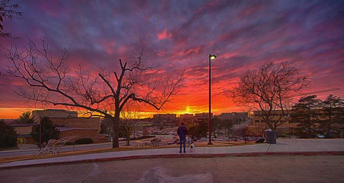 5. Rock Chalk, Beautiful Sunset!