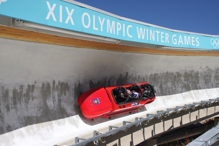 3) Bobsled at the Utah Olympic Park, Park City