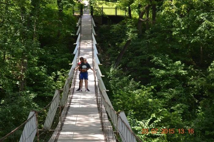 6. The Swinging Bridge, Columbus Junction